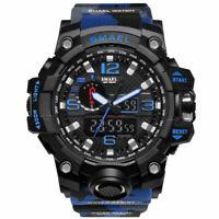 Military Camo Men's Wrist Watch Quartz Digital Dual Analog Sport Water Resistant
