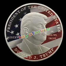 USA President Donald Trump Flag Eagle Coin badge emblem 2017 New