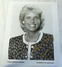 1993 souvenir photo ~ Univ. of Kentucky Coach Sharon Fanning ~ Autographed