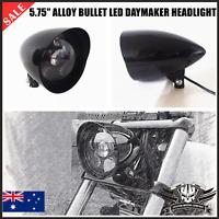 "5 3/4"" gloss black LED daymaker headlight Harley breakout rocker FXSB FXCWX FXST"