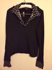 Ralph Lauren Petites Black/White Polkadot Sweater P/M