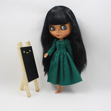 """Takara 12"""" Neo Blythe Black Hair Nude Doll from Factory Tby486"""