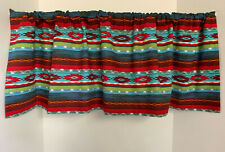 Valance Tribal Southwest Blue Red Teal Orange Green Custom Made Window Treatment