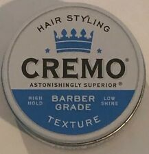 Cremo Barber Grade Hair Styling Texture Thickening Paste New
