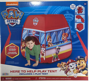 """Paw Patrol 'Here to Help' Pop-Up Play Tent  Collapsible Play tent 28"""" X 28"""" X 34"""