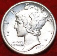 1917-P Mercury Dime 10C BU Uncirculated Silver Coin DEEP STRIKE BEAUTY!