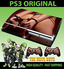 Playstation ps3 original autocollant hot booty main poignets peau sexy & 2 pad skins