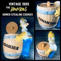 The Simpsons Cookie Jar - Homer Sneaking Cookies Vintage 1995 Treasure Craft