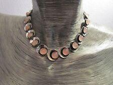 Collier Kette Nils Erik N. E. From Denmark 925 Sterling Silber mit Rosenquarz