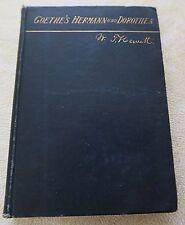 Goethe's Hermann and Dorothea by Waterman T. Hewitt 1892