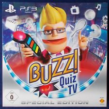 PS3 - Playstation ► Buzz!: Quiz TV - Special Edition & Wireless-Buzz!-Buzzer ◄