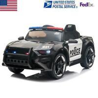 12V Kids Ride On Car 2.4GHZ Remote Control  Sports Police Car LED Lights Siren