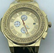 JBW Saxon Gold Sunray Crystal Dial Gold-tone Men's Watch JB-6101-D