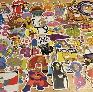 The Simpsons Set Of 5 Vinyl Window/Laptop Stickers
