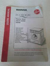 VINTAGE HOOVER ECO LOGIC WASHER DRYER USER GUIDE A8578