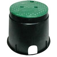 """Nds Inc. 111Bc 10"""" Round Black/Green Irrigation Valve Box & Cover"""