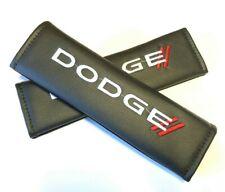 Dodge Premium Black Leather Car Seat Belt Cover Shoulder Pad Cushions For Dodge