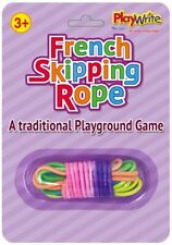 French Skipping Rope - Coloured Elastic Playground Game String Children Jump