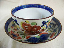 Gaudy Dutch BUTTERFLY Pattern CUP and SAUCER
