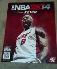 NBA 2K14 Advertising Video Game Basketball Player Sports Poster