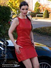Lederkleid Leder Kleid Rot Minikleid Maßanfertigung