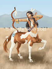 Native American Indian Centaur archer fairy fantasy art Brandy Woods
