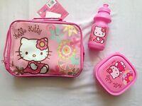 Hello Kitty Girls Pack Lunch Sandwich Box And Bottle Set Case Kids