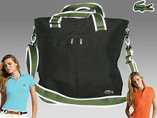 LACOSTE Womens Ladies Shoulder Bag Vertical TOTE Bag Black Casual 24 AUTHENTIC