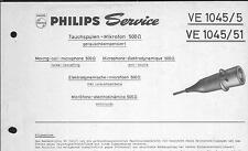 Philips Original Service Manual für  Tauchspulenmikrofon VE 1045