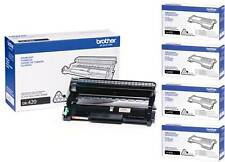GENUINE BROTHER DR420 DRUM & (4) TN450 TONER VALUE PACK