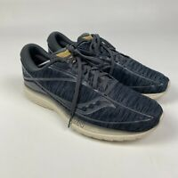 Saucony Mens Gray White Kinvara 10 Running Waking  Shoes Everun Size 12