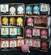 LOT of 44 Vintage TESTED  GE LIGHTED ICE CHRISTMAS Light Bulbs  ALL WORK!