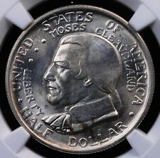 1936 CLEVELAND COMMEMORATIVE HALF NGC MS 64 LOVELY SHIMMERING WHITE LUSTER