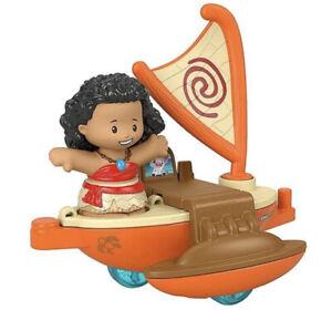 HTF Fisher Price Little People DISNEY PRINCESS PARADE FLOAT Moana Boat Raft NEW!