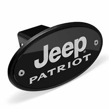 Jeep Patriot Black Metal Plate 2 inch Tow Hitch Cover