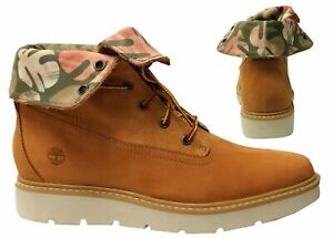 Timberland Kennston Roll Top Wheat Tropical Lace Up Womens Boots A1N2R B0