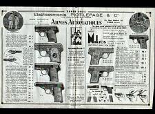 """PARIS (X°) USINE / ARMES PISTOLETS """"LEPAGE & PIOT"""" AFFICHE-TRACT Tarifs en 1935"""