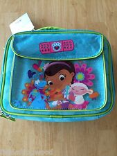 NWT Disney Store Doc McStuffins Lunch box Tote School Girls Bag Lambie Stuffy