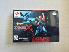 SNES Castlevania Dracula X, Custom Art case only, no game included