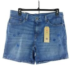 Levi's Women Jean Shorts Size 33 Classic Short Embroidered Flowers New
