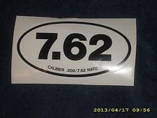 "NATO ""7.62 "" Euro Sticker,Cal .308, VERY COOL ! USMC, ARMY, AIRBORNE,SPECIAL OPS"