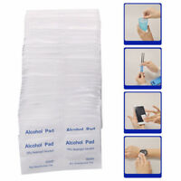 100pcs/box Alcohol Swabs Pads Wipes Antiseptic Cleanser Cleaning Sterilization0c