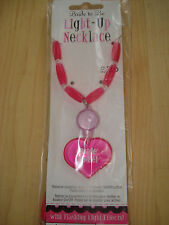 Bride To Be Light Up Flashing Beaded Necklace Hot Pink Hen Night/Party BNIP