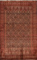 Vintage Geometric Tribal Balouch Hand-knotted Area Rug Wool Oriental 4x6 Carpet