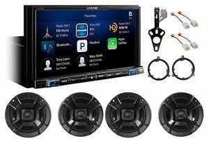 ALPINE Carplay Monitor+Camera+Polk DB Speakers For 2007-2018 Jeep Wrangler JK