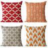 Retor Geometry Cotton Linen Pillow Case Sofa Waist Bed Cushion Cover Home Decor