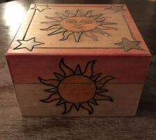 Sun And Stars Wooden Trinket Box Enchanted World of Boxes