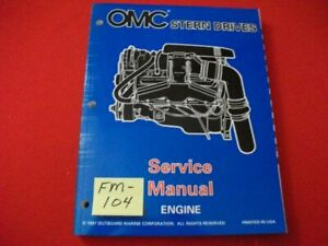 """1998 OMC STERN DRIVES-ENGINE 3.0 THRU 8.2 """"BY"""" SERIES SERVICE MANUAL #501199 EXC"""
