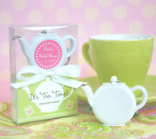 50 Personalized Teapot Keychain Tape Measure Birthday Bridal Wedding Favors
