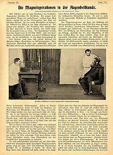 Franz Bendt la magnetico operazione nella occhi scienza medica prof. Julius Hirschberg 1899